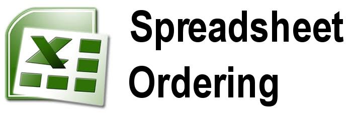 ordering spreadsheet